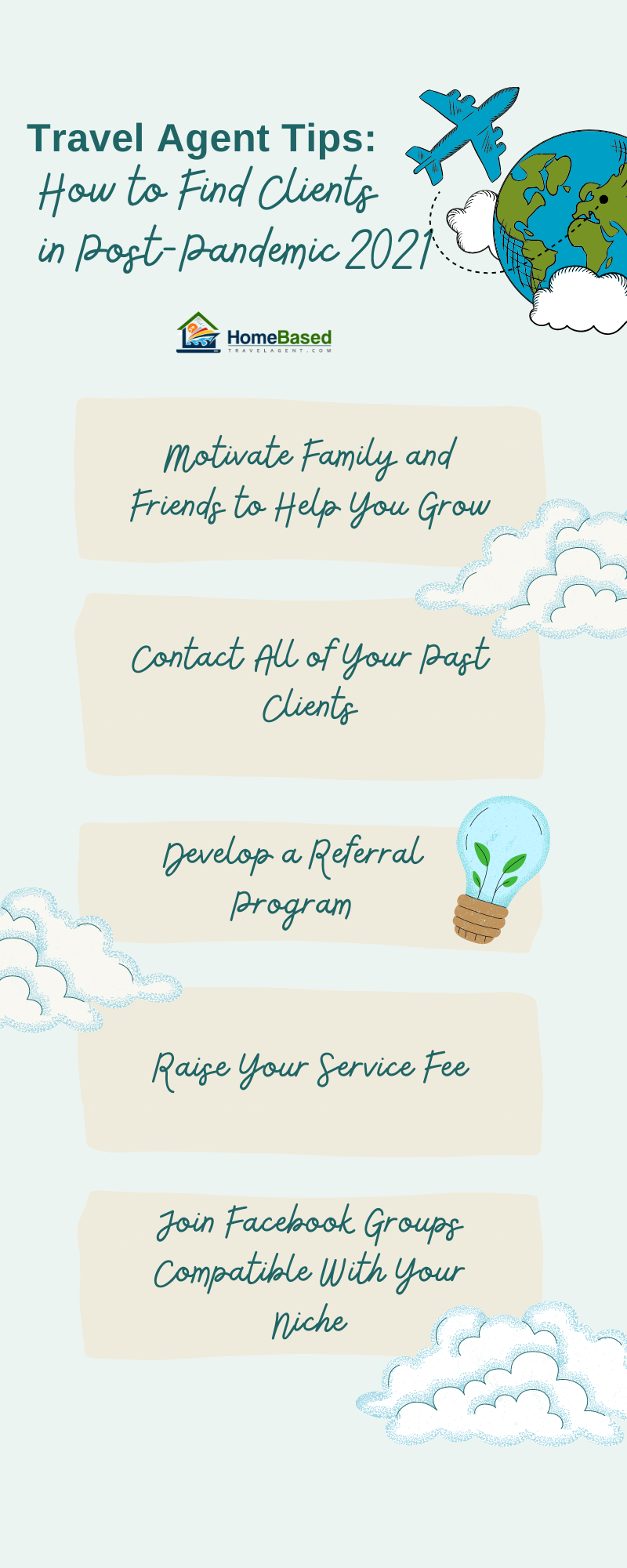 How to Find Clients as a Travel Agent in 2021 - Infographic